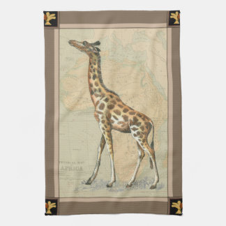 Africa Map and a Giraffe Tea Towel