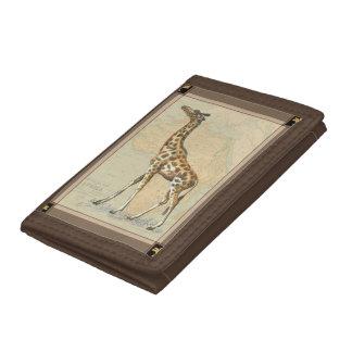 Africa Map and a Giraffe Tri-fold Wallet