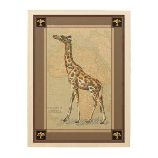 Africa Map and a Giraffe Wood Wall Art