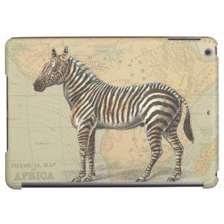 Africa Map and a Zebra