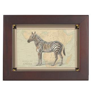 Africa Map and a Zebra Keepsake Box