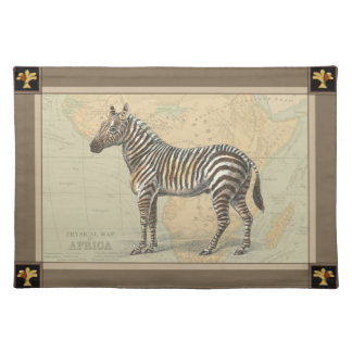 Africa Map and a Zebra Placemat