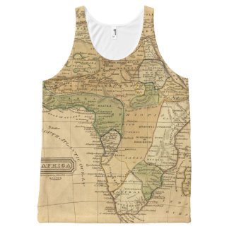 Africa  Map by Worcester All-Over Print Tank Top