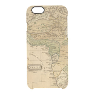 Africa  Map by Worcester Clear iPhone 6/6S Case