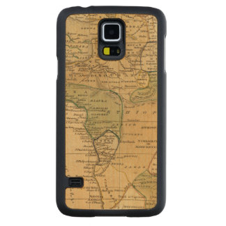 Africa  Map by Worcester Maple Galaxy S5 Slim Case