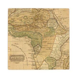 Africa  Map by Worcester Wood Coaster
