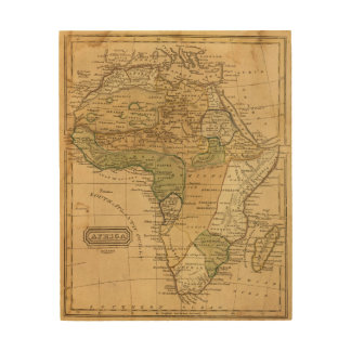 Africa  Map by Worcester Wood Prints