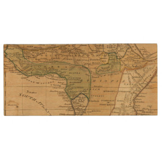 Africa  Map by Worcester Wood USB Flash Drive