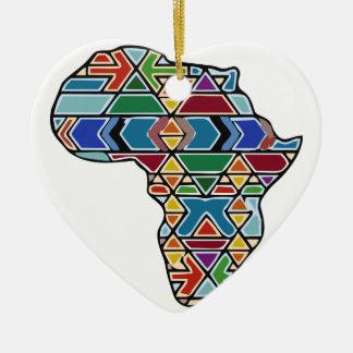 Africa map ceramic heart decoration