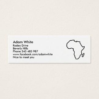Africa map mini business card
