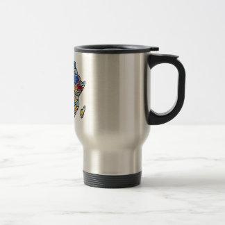 Africa map coffee mug