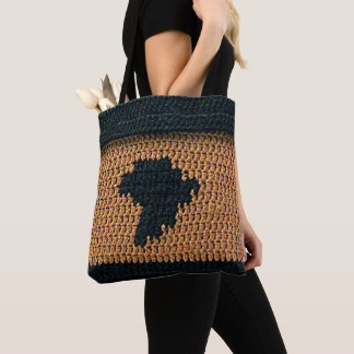 Africa Map Unique Texture Crochet Print All Over Tote Bag