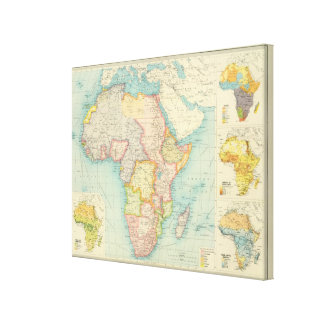Africa Map with shipping routes Canvas Print