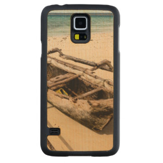 Africa, Mozambique, Mogundula Island Carved Maple Galaxy S5 Case