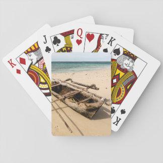 Africa, Mozambique, Mogundula Island Poker Deck