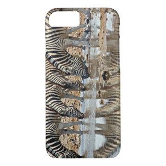 Africa, Namibia, Etosha NP. Burchell's Zebra iPhone 8/7 Case