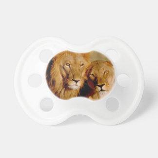 Africa, Namibia, Okonjima. Lion & lioness Dummy
