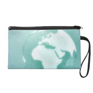 Africa on Globe Wristlet