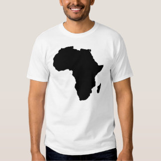 Africa Outline Cotton Men's Travel T-Shirt