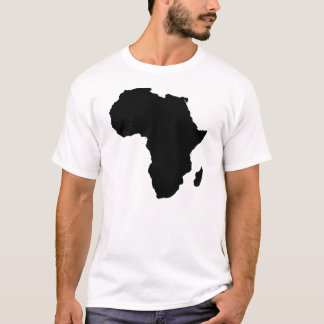 Africa Outline Cotton Men's Travel T-Shirt