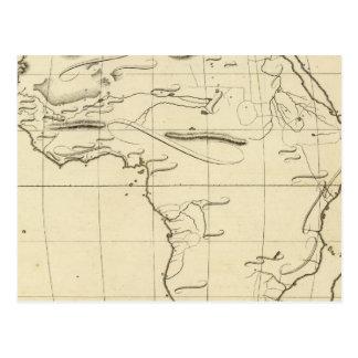 Africa outline postcard