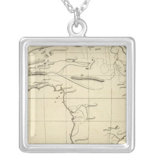 Africa outline silver plated necklace