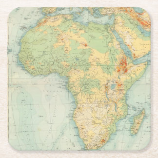 Africa Physical 10506 Square Paper Coaster