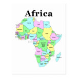 Africa - Political Map Post Card