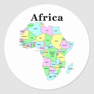 Africa - Political Map Stickers