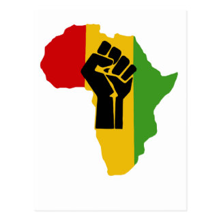 Africa Power - Reggae Postcard