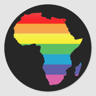 africa pride. classic round sticker