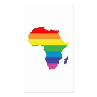 africa pride. pack of standard business cards