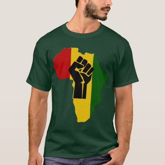 Africa Rasta Black Fist Dark Coloured T-Shirt