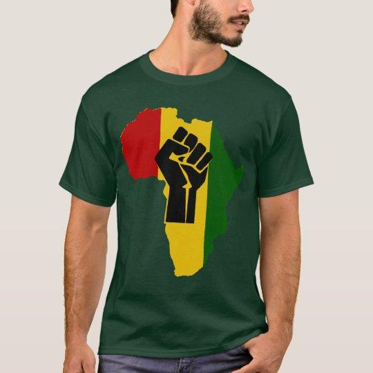 Africa Rasta Black Fist Dark Coloured T-Shirt