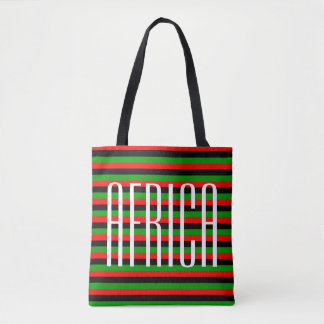 Africa Red Black Green Tote Bag