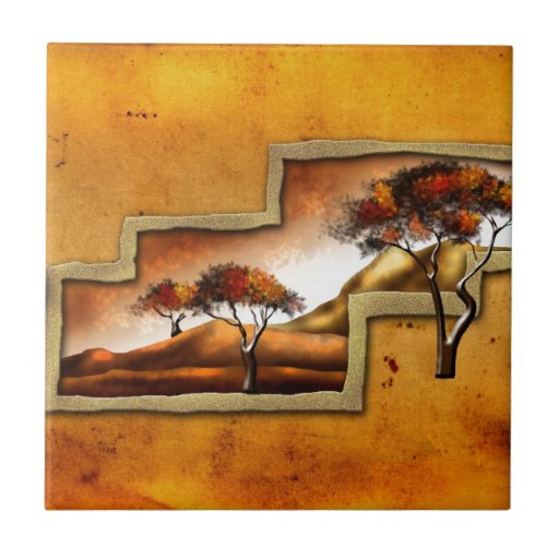 Africa retro vintage style gifts 06 ceramic tile