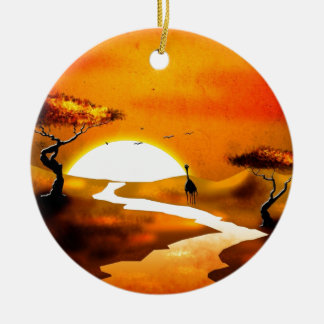 Africa retro vintage style gifts 13 christmas ornament