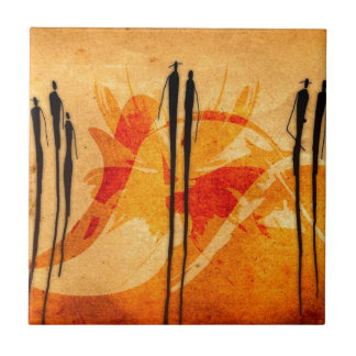 Africa retro vintage style gifts 19 small square tile