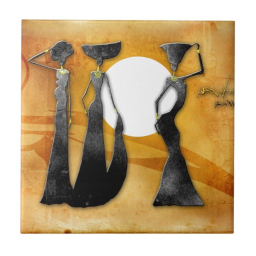 Africa retro vintage style gifts 28 ceramic tile
