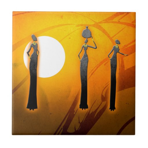 Africa retro vintage style gifts 29 ceramic tile