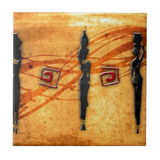 Africa retro vintage style gifts 30 small square tile