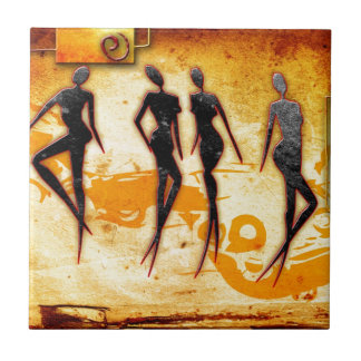 Africa retro vintage style gifts 33 small square tile