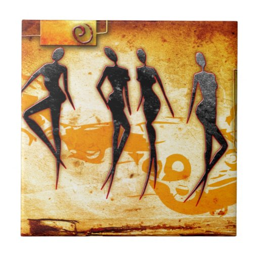 Africa retro vintage style gifts 33 ceramic tiles