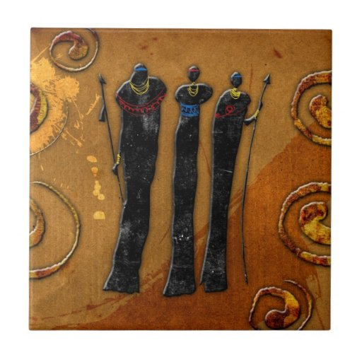 Africa retro vintage style gifts 37 tile