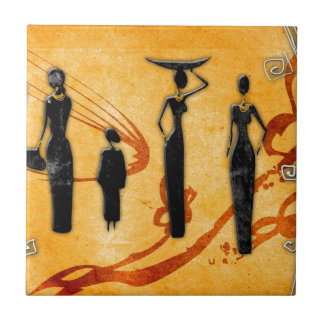 Africa retro vintage style gifts 38 small square tile