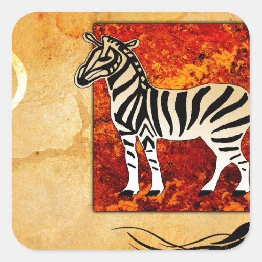 Africa retro vintage style gifts 49 sticker