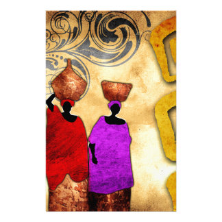 Africa retro vintage style gifts 51 stationery design