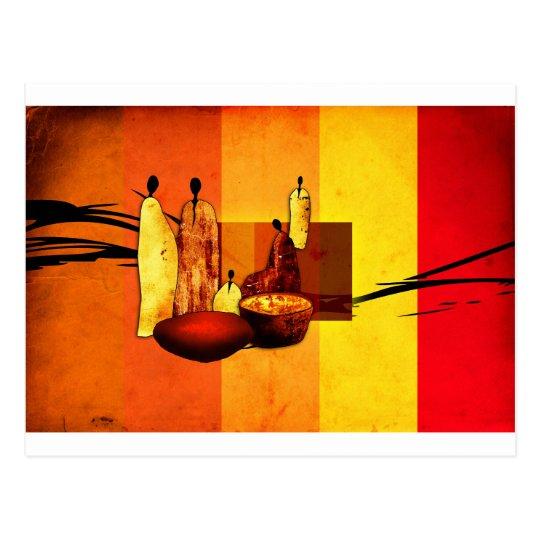 Africa retro vintage style gifts AF069 Postcard