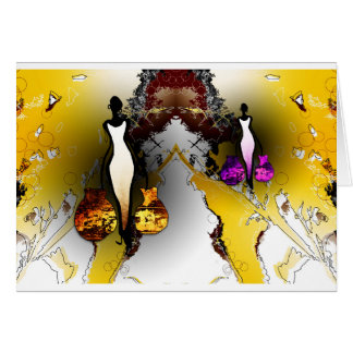 Africa retro vintage style gifts AF074 Greeting Card