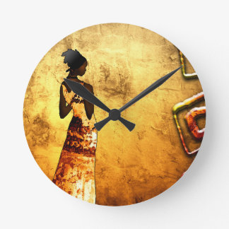 Africa retro vintage style gifts AF087 Round Clock